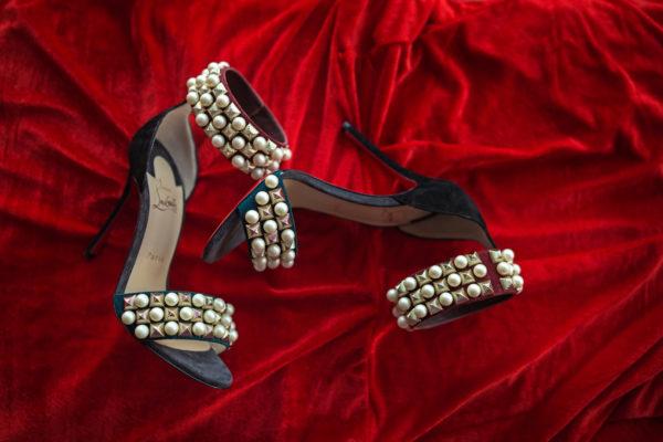 christian louboutin black Tudor bal 100 woman ankle strap sandles