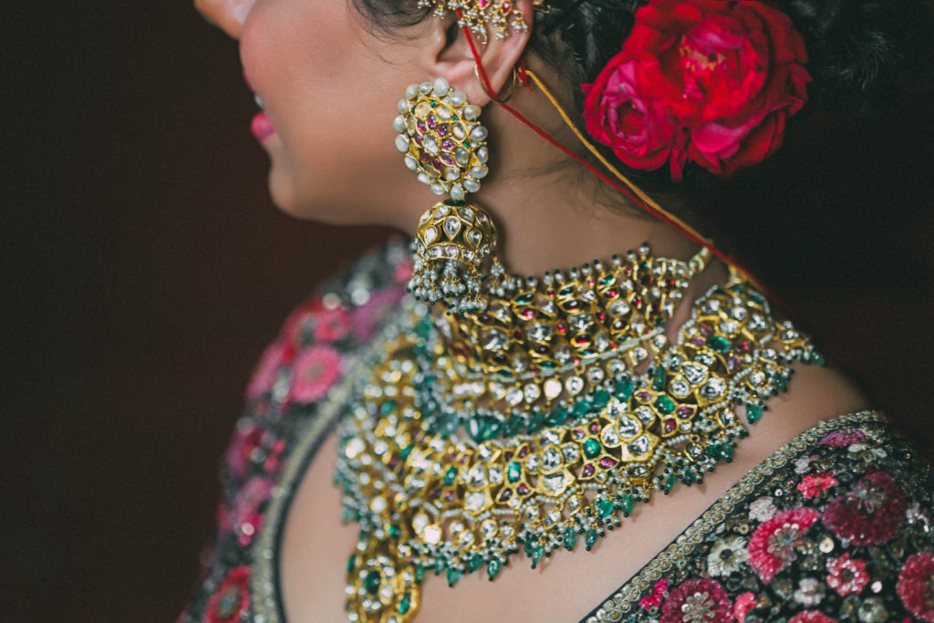 kisandas bridal makeup jewellery or band baaja bride