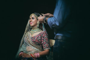 sabyasachi bride getting ready