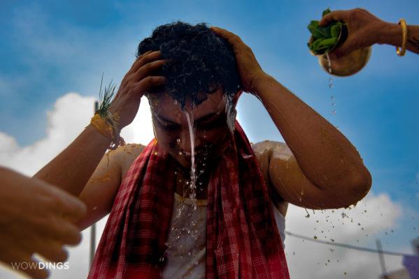 Transgender groom in her haldi ritual