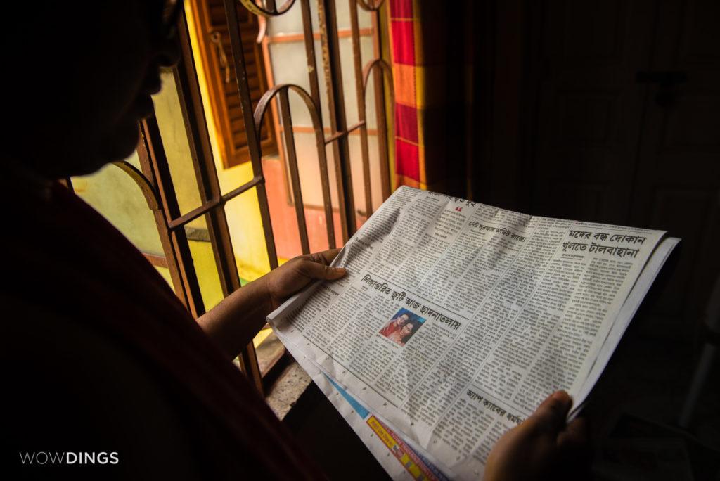 Bengali newspaper published the news of first Transgender Wedding in Kolkata