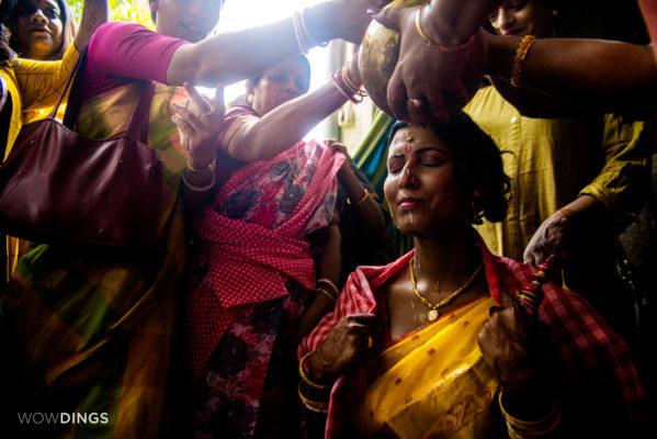 transgender bride in her haldi rirual