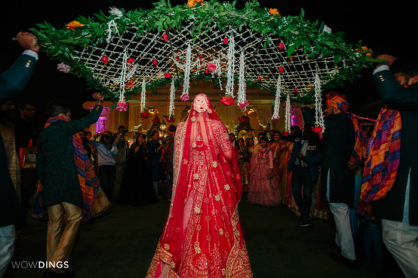 bride entry in garwali wedding