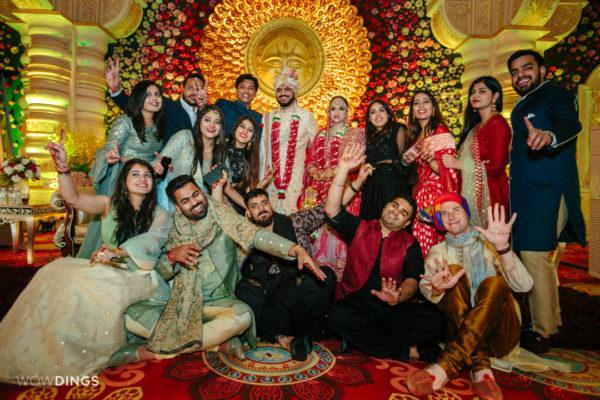 bride aand groom portraiture in garwali wedding