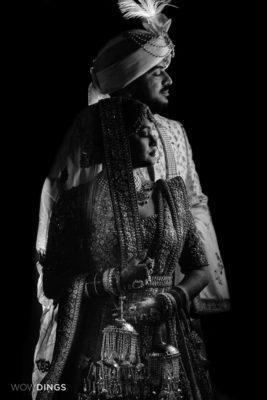 bride aand groom in garwali wedding