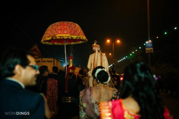 groom entry in garwali wedding