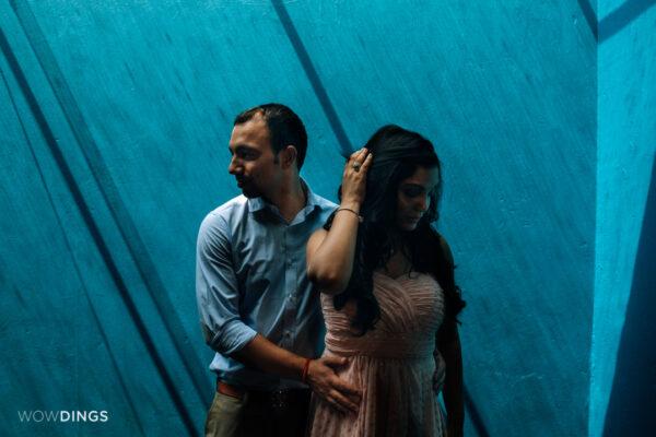 moody shoot of a couple