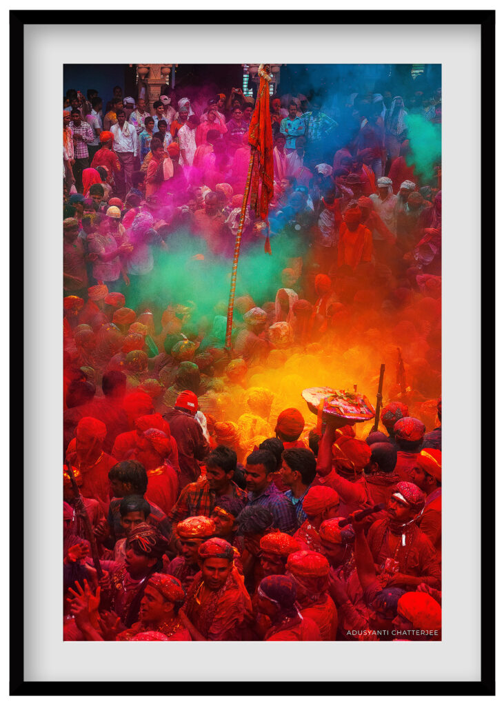 travel photography and documentary prints of holi festival