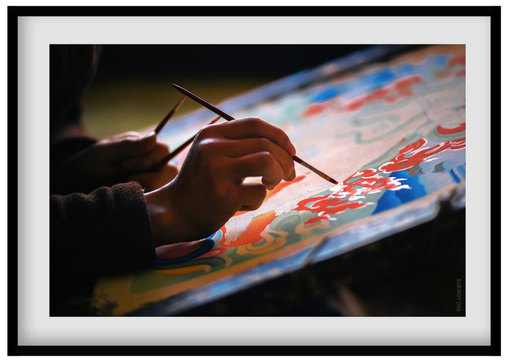 thanka painting of sikkim