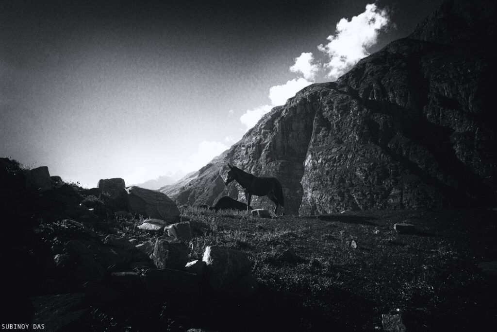 Black and white travel photography of spiti