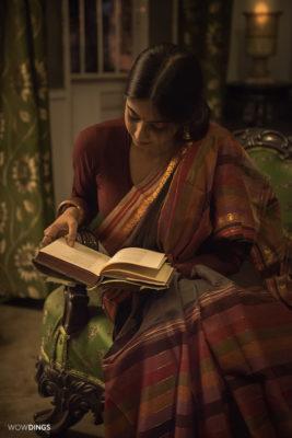 bengali girl reading a book