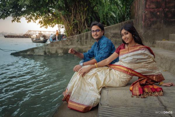 preweddong shoot at princep ghat
