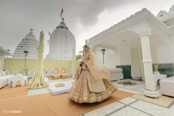 intimate Temple wedding