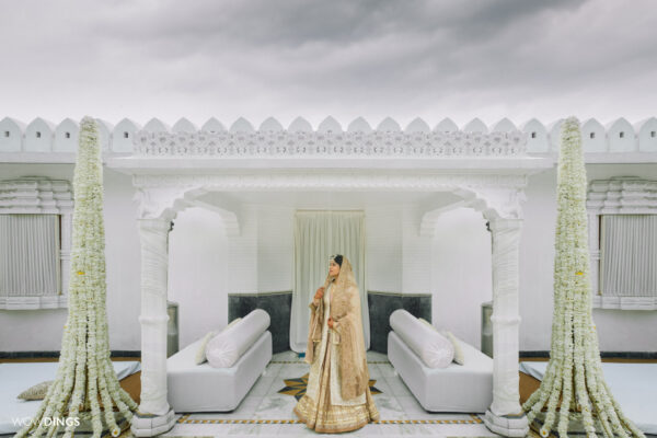 Bride in a temple