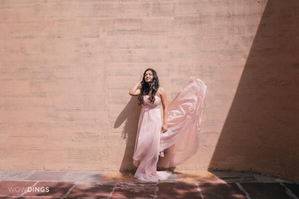 bride in a Pre wedding photoshoot